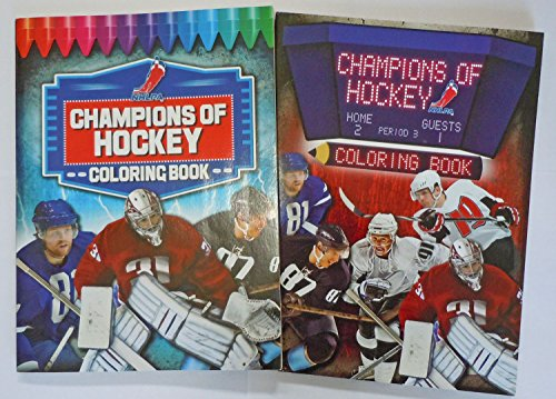 Champions of Hockey 96 Page Coloring and Activity Book (2 Pack)