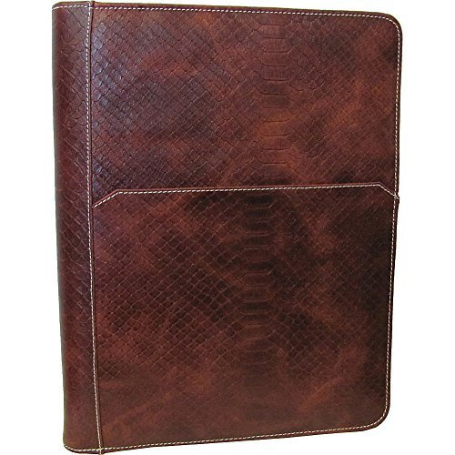 amerileather-leather-writing-portfolio-cover-brown-lizard-by-amerileather