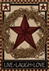 Country Primitive Barn Star Wreath Live Laugh Love Double