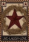 Country Primitive Barn Star Wreath Li…