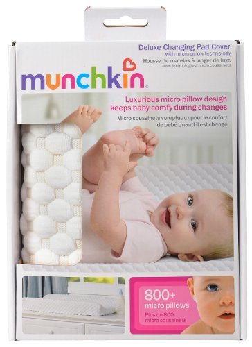 Cheap Munchkin Deluxe Changing Pad Cover with Micro Pillow Technology