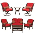 Bella Vista Combo: 4 Piece Seating and 3 Piece Bistro Set by La-Z-Boy Outdoor
