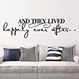 LUCKKYY®And They Lived Happily Ever After Wall Sticker Home Decal Quote Decals Wall Art Stickers Decal Home Decor Decorate