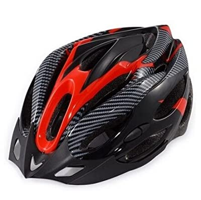 Outdoor Manager Bicycle Cycling Safty Helmet Adult Mens Bike Helmet Red Carbon Color With Visor from Outdoor Manager