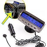 SODIAL(R) Detecteur tension temperature voiture Auto Lcd affichage digital afficheur Thermometre Controle reveil Alarme horloge