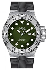 Invicta Men's 14436 Excursion Quartz 3 Hand Green Dial Watch