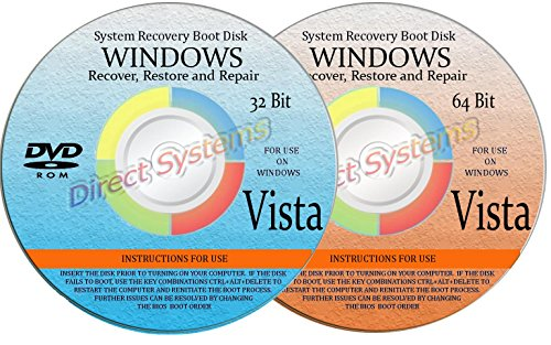 BOOT DISKS for RESTORE & RECOVERY for WINDOWS VISTA 32
