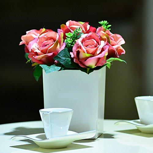 shiqi-fleurs-artificielles-plastiques-interieur-set-rose-rouge-rose-pour-mariage-decoration-banquet