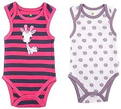 BIO KID Clothing Set for Kids (BG1I-T180-68_3-6 Months, 3-6 Months, Light Purple / Navy)