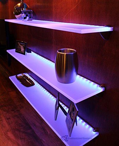 "LED Lighted Floating Shelf 4 Long x 4 5"" Deep Shelf ly"
