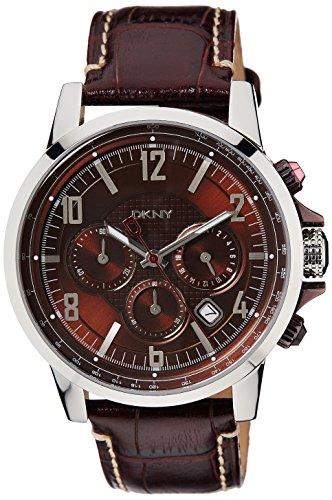 DKNY - NY1324 - Montre Homme - Quartz chronographe - Bracelet en cuir marron