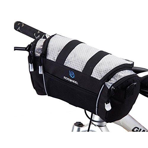 ショルダーストラップ付き 自転車用フロントバッグ SBF040 (シルバー)