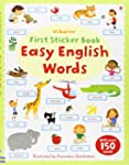 First Sticker Book: Easy English Word...