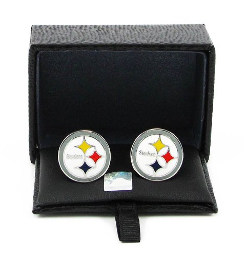 NFL Pittsburgh Steelers Cut Out Logo Cuff Link, Silver