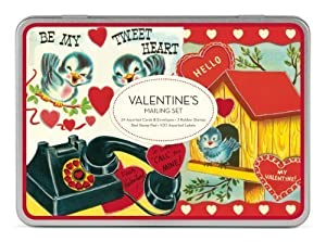 Cavallini ValenTine's Mailing Sets, 24 Assorted Cards with Envelopes
