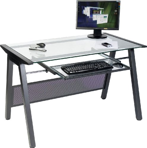 Teknik Graphite and Clear Glass Workstation