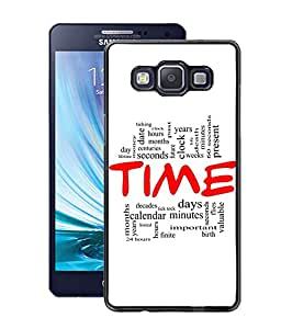 Fuson PVC-2D Metallic Pinted Paten Designer Back Case Cover for Samsung Galaxy A5 SM-A500F-D853