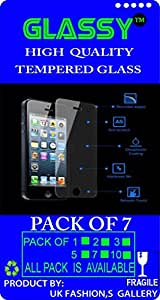 GG-495 Glassy (Pack Of 7) laminated safety Tempered Glass Screen Protector For ZTE Axon Max