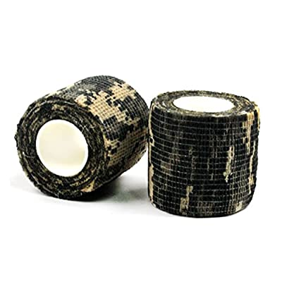 LoveS 4 Rolls Self-adhesive Non-woven Outdoor Camouflage Wrap Rifle Hunting Cycling Tape Waterproof Camo Stealth Tape