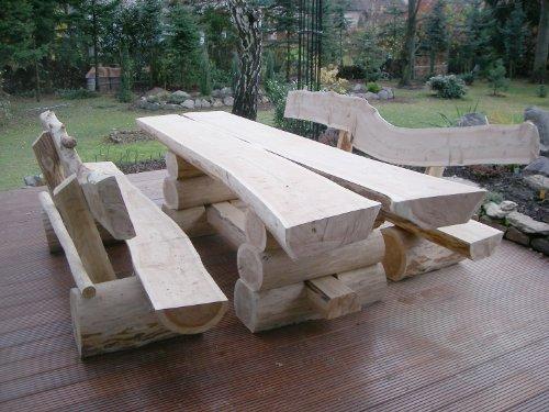 RUSTIKALE-SITZGARNITUR-AUS-NADELHOLZ-Deutsche-Handwerksqualitt-2m-Lnge-Sitzkapazitt-fr-8-Personen-Jede-Sitzgruppe-ist-ein-Unikat-500-kg