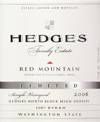 2006 Hedges Family Estate Single Vineyard Limited Syrah 750 Ml