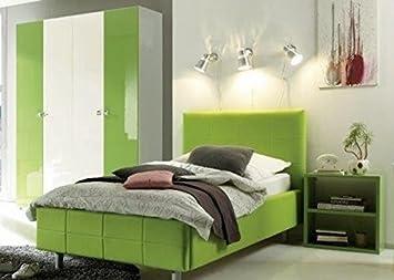 Cameretta composizione moderna bianco e verde lucido