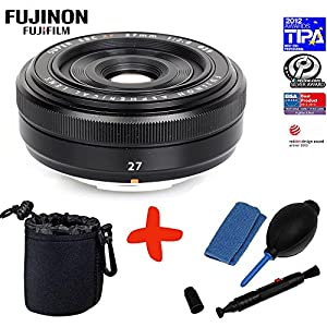 Bundle Fujifilm XF-27mm f2.8 Pancake Lens +Lens Pouch +Lens Cleaning Kit (suitable for X-Pro1 Xpro1 X-A1 XA1 X-A2 XA2 X-E2 XE2 X-M1 XM1 X-M2 XM2 X-T1 XT1 X-T10 XT10)