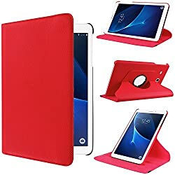 Samsung Galaxy Tab A 7.0 Case, Pasonomi 360 Degree Rotating Magnetic Smart PU Leather Stand Cover Case For 2016 Release Samsung Galaxy Tab A 7.0 7-Inch Tablet (SM-T280 / SM-T285) Only ( Red)
