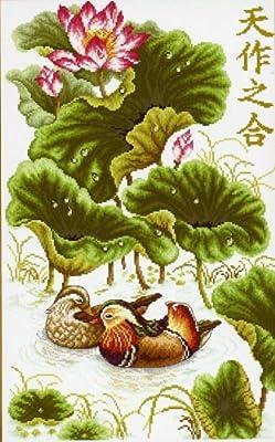 クロスステッチ刺繍キット蓮池の鴛鴦CSD-226