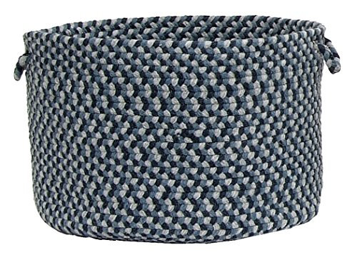Colonial Mills Boston Common Utility Basket, 18 by 12-Inch, Capeside Blue - 1