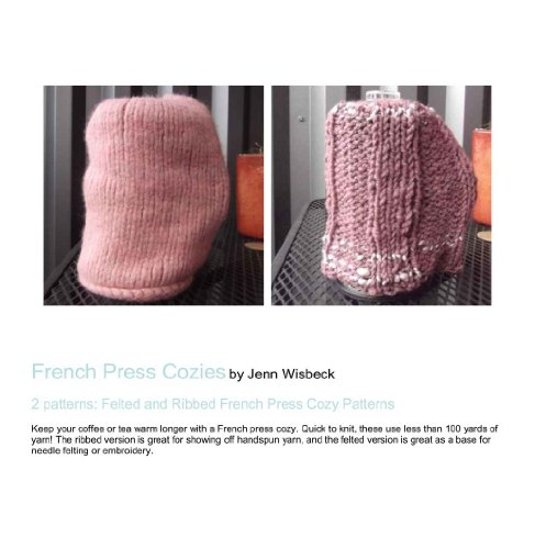 French Press Cozys Knitting Patterns