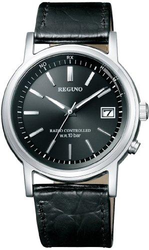 CITIZEN 腕時計 REGUNO レグノ ソーラーテック 電波時計 クラシックストラップ KL7-019-50 メンズ