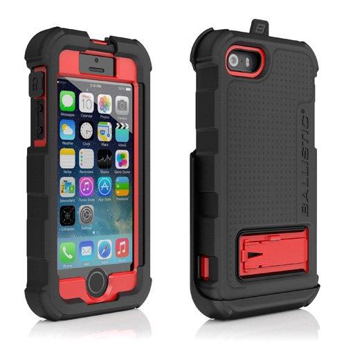 正規輸入品 指紋認証機能対応 2014年モデル iPhone5 / iPhone5S 対応! 最強クラス耐衝撃+防塵ケース! Ballistic Hard Core (HC) Case iPhone5/5S バリスティック ケース アイフォン5 アイフォン5S (レッド/ブラック)