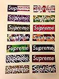 Supreme 14pcs A4 Size Vinyl Sticker (Ss1) Skateboard Car Window Bumper Decal