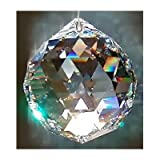 Feng Shui Crystal Hanging Faceted Sphere: 40mm