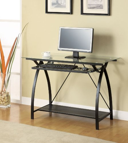 Buy Low Price Comfortable Computer Desk in Black Finish by Coaster Furniture (B0040ICEQQ)