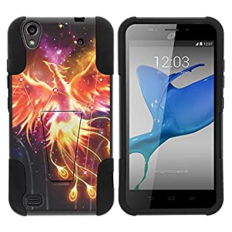 STRIKE Impact Kickstand Case   You are looking at the STRIKE impact kickstand case designed to specifically fit the ZTE Quartz Z797C from Straight Talk.   *****NOTE****** This case WILL NOT fit any other ZTE handheld devices.  Design:  This heavy dut...