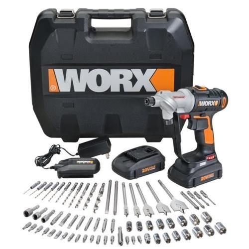 Buy Bargain WX176L.1 WORX 67 pc. 20V Lithium Switchdriver Cordless Drill & Driver Set