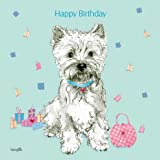 Handbags and Glad Rags West Highland White Terrier Birthday Card