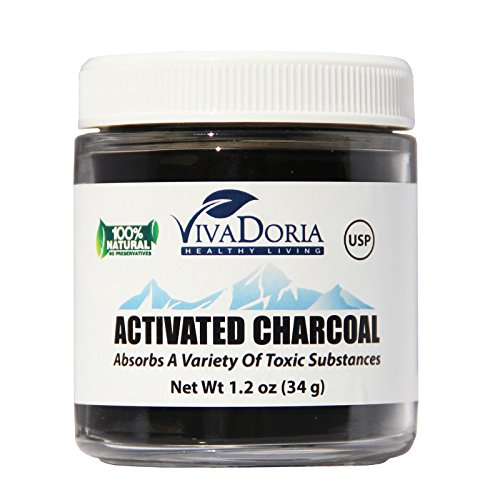 Activated Charcoal Powder (1.2 oz glass jar)