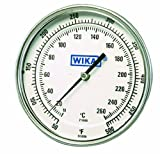 WIKA TI.50 Stainless Steel 304 Process Grade Resettable Bi-Metal Thermometer, 5