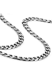 "Classic Mens Necklace 316L Stainless Steel Silver Chain Color 18"",21"",23"" (6mm)"