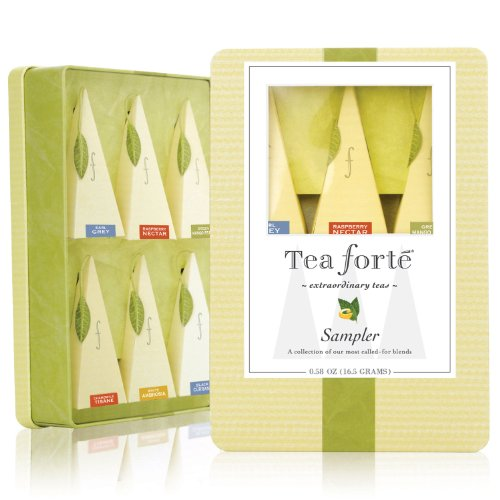 Tea Forte Medium Tin Sampler - Six Silken Pyramid Infusers