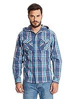 New Caro Camisa Hombre Gavilanes (Azul Índigo)