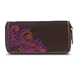 Travelon SafeID Feather Ladies RFID Wallet - Brown