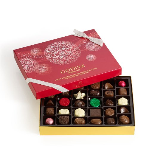 GODIVA Chocolatier Holiday Assorted Chocolates Gift Box 36 Pieces