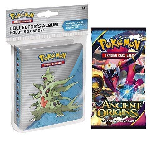 Pokemon-X-Y-Ancient-Origins-Mini-Binder-Featuring-Mega-Tyranitar-Mega-Ampharos-Mega-Sceptile-Booster-Pack