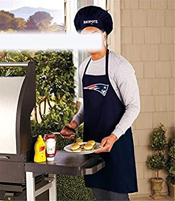 New England Patriots Cooking Apron & Chef Hat, Nfl Barbecue Tailgating Gear