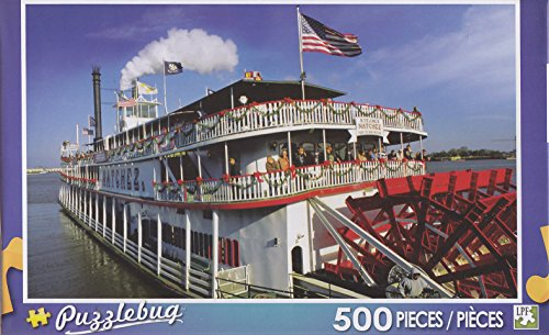 Puzzlebug 500 Piece Puzzle ~ Paddle- Wheel Steamboat on the Mississippi River - 1