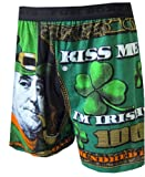 Big Ben Franklin Kiss Me I'm Irish Boxer Shorts for men